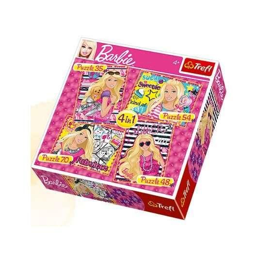 Puzzle 4w1 Wakacje Barbie TREFL