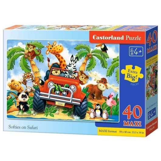 Puzzle 40 maxi - Pluszaki na Safari CASTOR