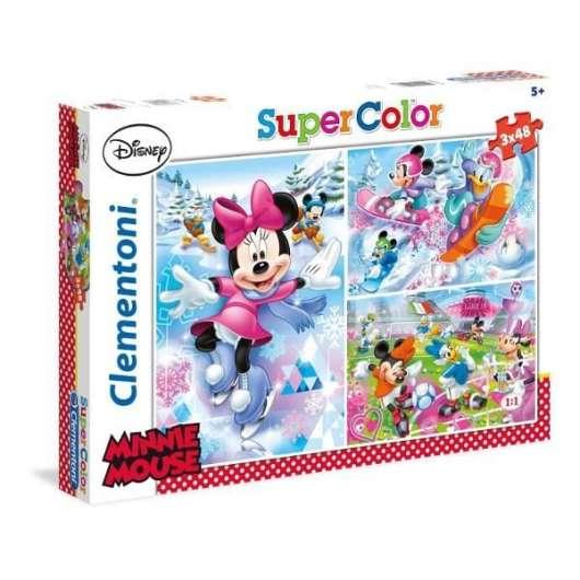 Puzzle 3x48 Minnie Sport