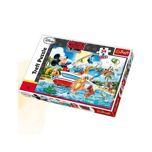 Puzzle 24 maxi Na rybach TREFL