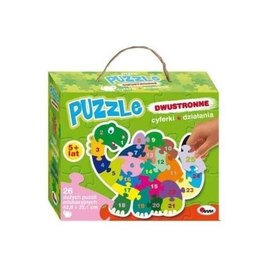 Puzzle dwustronne - Dinozaur