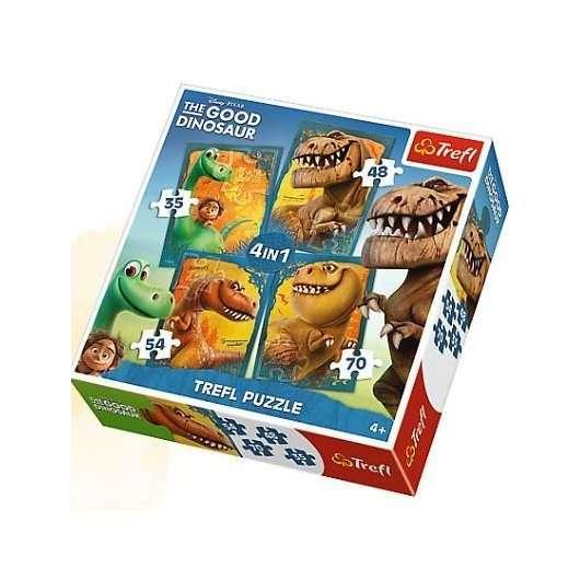 Puzzle 4w1 Dobry dinozaur TREFL