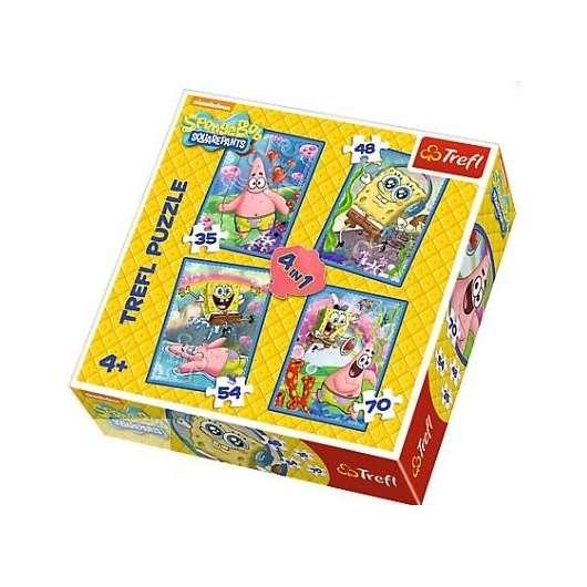 Puzzle 4w1 SpongeBob i Patryk TREFL