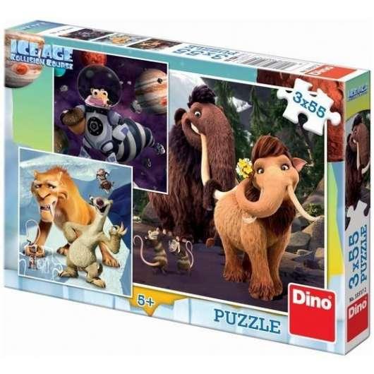 Puzzle 3x55 Epoka Lodowcowa 5: Portret DINO