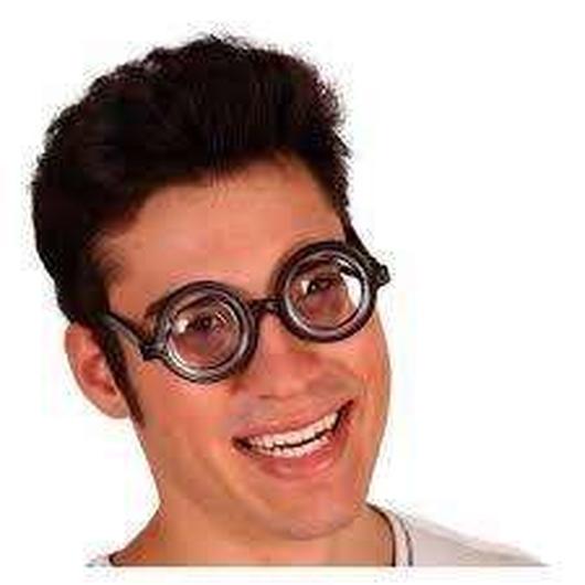 """Okulary """"grube szkło"""""""