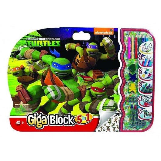 Giga Block - Zestaw dla artysty 5w1 - Żółwie Ninja