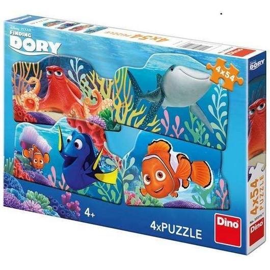 Puzzle 4x54 Gdzie jest Dory? DINO