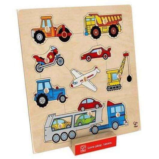 Puzzle z uchwytami - Pojazdy
