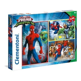 Puzzle 3 x 48 el. Superkolor Spiderman and the Sin