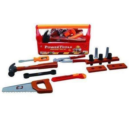 Skrzynka z narzędziami z piłą i młotkiem