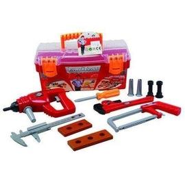 Skrzynka z narzędziami i wiertarką na baterie