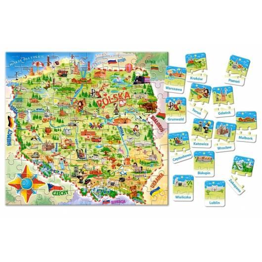 CASTOR edukacyjne mapa Polski