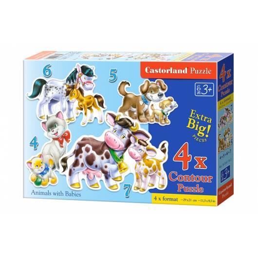 CASTOR 22 EL. 4+5+6+7 Zwierzęta z Dziećmi x4