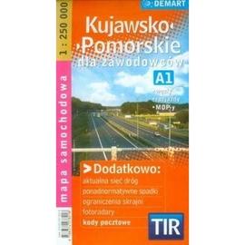 Kujawsko-Pomorskie dla zawodowców TIR mapa sam...