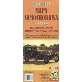 Mapa samoch. PolskA 1939 1:1 250 000 w. 2015