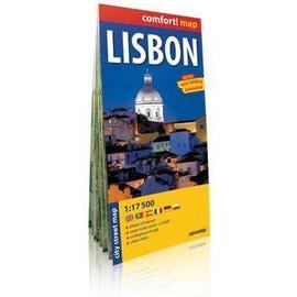 Comfort!map Lisbon (Lizbona) 1:17 500 plan miasta