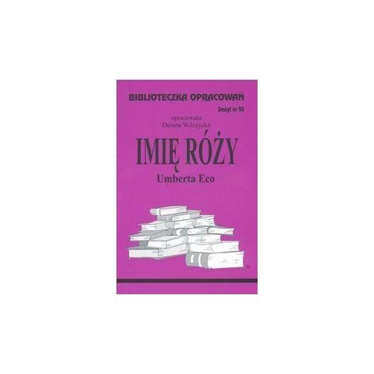 Biblioteczka opracowań nr 093 Imię Róży