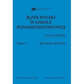 Język polski w szkole ponadpodst. nr 3 2017/2018