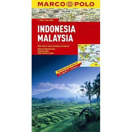 Mapa Drogowa Marco Polo. Indonezja/Mal 1:2 000 000