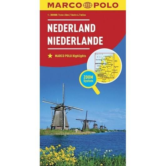 Mapa ZOOM System. Holandia 1:300 000 MARCO POLO
