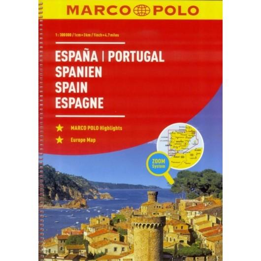 Atlas Hiszpania/Portugalia 1:300 000 - MARCO POLO