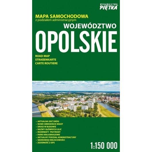 Województwo Oploskie 1:150 000 mapa samochodowa