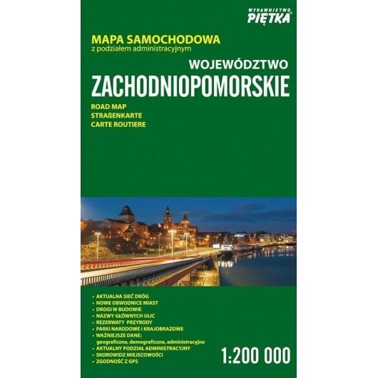 Województwo Zachodniopomorskie 1:200 000 mapa