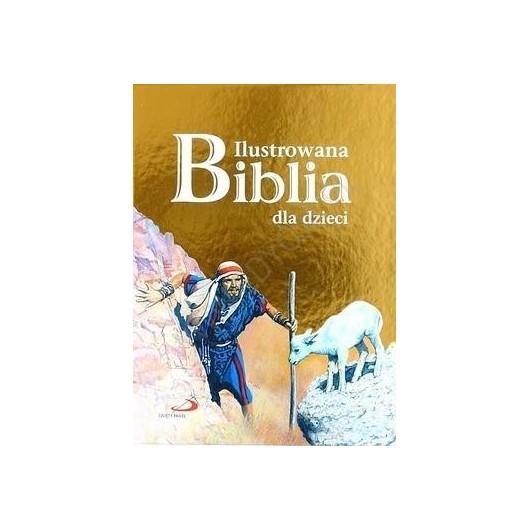 Ilustrowana Biblia dla dzieci złota okładka