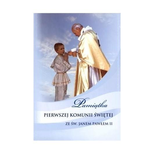 Pamiątka I Komunii Św. ze św. JP II - chłopiec