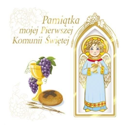 Pamiątka mojej I Komunii Świętej (z aniołkiem)